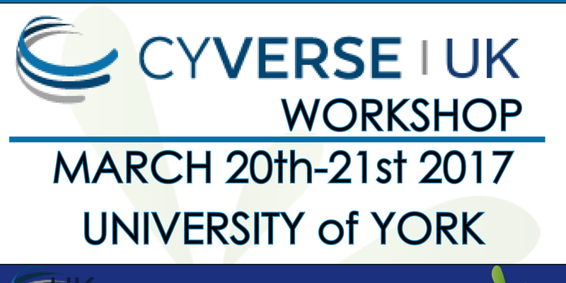 CyVerse UK Workshop 2017